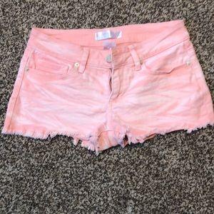 No boundaries pink jean shorts
